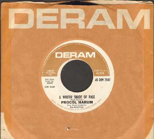 Procol Harum - A Whiter Shade of Pale/Lime Street Blues (with Deram company sleeve) - EX8/ - 45 rpm Records