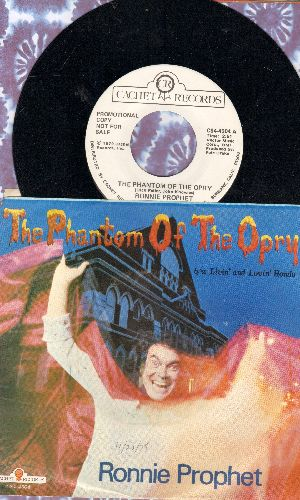 Prophet, Ronnie - The Phantom Of The Opera/Livin' And Lovin' Hondo (DJ advance pressing with picture sleeve) - NM9/EX8 - 45 rpm Records