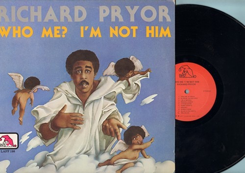 Pryor, Richard - Who Me? I'm Not Him - Classic Comedy Album by the legendary comic who tells it like it is! (Vinyl STEREO LP record, 1977 first pressing) - NM9/EX8 - LP Records