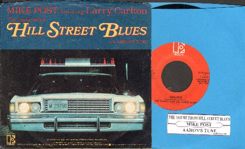 Post, Mike - Theme From Hill Street Blues/Aaron's Tune (with juke box label and picture sleeve) - NM9/EX8 - 45 rpm Records