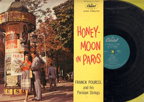 Pourcel, Franck - Honey-Moon In Paris: Sous Le Ciel De Paris, L'ame Des Poets, Un P'Tit Peu D'Argent (vinyl MONO LP record) - NM9/NM9 - LP Records