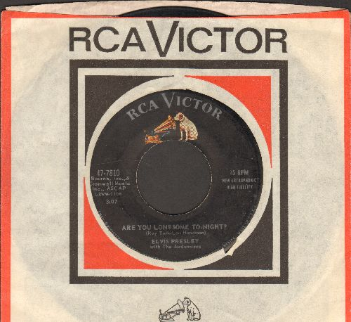 Presley, Elvis - Are You Lonesome Tonight?/I Gotta Know (first pressing with RCA company sleeve) - VG7/ - 45 rpm Records