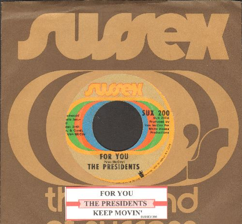 Presidents - For You/Keep Movin' (with juke box label and Buddah company sleeve) - VG7/ - 45 rpm Records