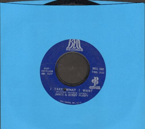 Purify, James & Bobby - I Take What I Want/Sixteen Tons (bb) - NM9/ - 45 rpm Records