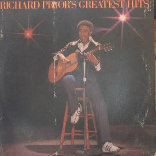Pryor, Richard - Richard Pryor's Greatest Hits: Exorcist, Nig@er With A Seizure, Wino, Craps, Cocaine, Mudbone (Vinyl STEREO LP record) - VG6/VG7 - LP Records