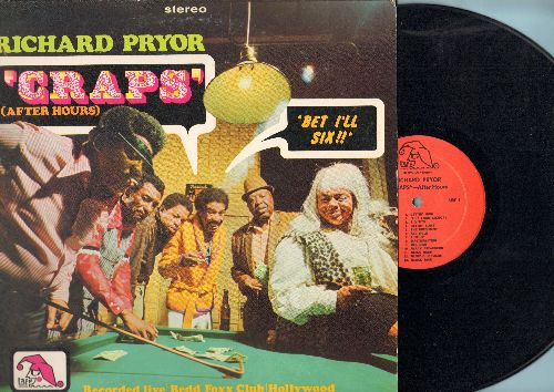Pryor, Richard - Craps (After Hours) - Recorded LIVE at the Redd Foxx Club in Hollywood (vinyl STEREO LP record) - EX8/EX8 - LP Records