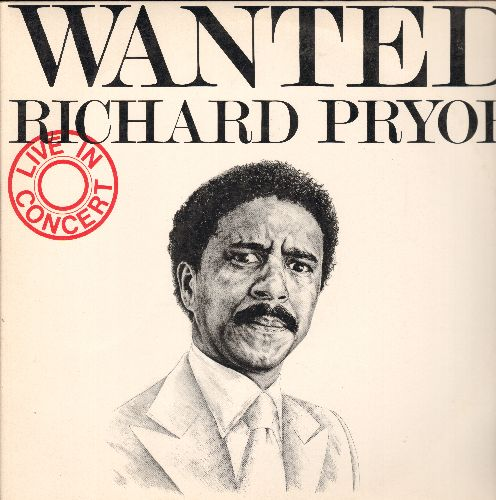 Pryor, Richard - Wanted - Richard Pryor Live In Concert (The CLASSIC set of comedy routines on 2 vinyl STEREO LP record set, gate-fold cover) - EX8/VG7 - LP Records