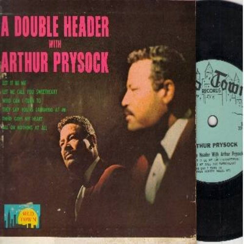 Prysock, Arthur - A Double Header with Arthur Prysock: 7 inch 33rpm vinyl Mini-LP with picture cover. Songs included: Let It be Me/Let Me Call You Sweetheart/All Or Nothing At All + 3 more! - EX8/VG7 - 45 rpm Records
