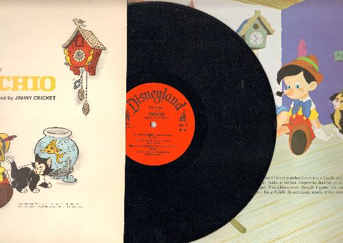 Disney - Pinocchio: Stories and Songs From the Original Motion Picture Sound Track  (Vinyl LP record, red label, gatefold cover with Picture Picture Pages) - NM9/EX8 - LP Records