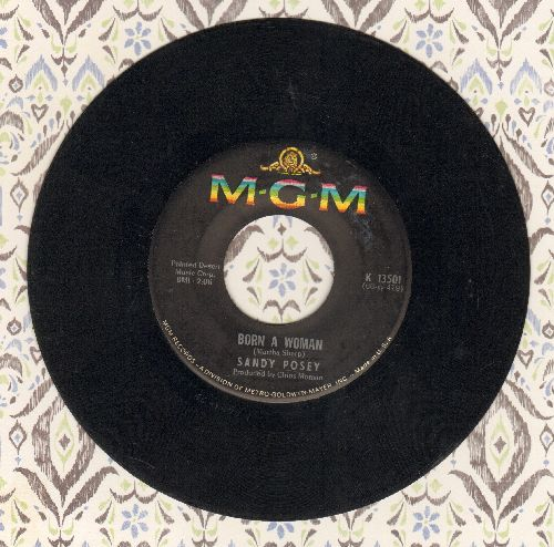 Posey, Sandy - Born A Woman/Caution To The Wind - VG7/ - 45 rpm Records