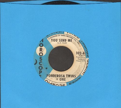 Ponderosa Twins + One - You Send Me/Hey Girl - VG6/ - 45 rpm Records
