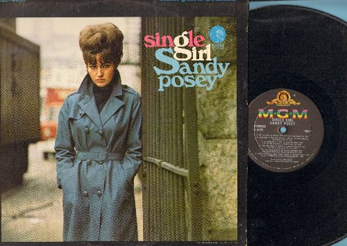 Posey, Sandy - Single Girl: Hey Mister, I'm Your Puppet, The Twelfth Of Never, A Place In The Sun (Vinyl STEREO LP record) - EX8/EX8 - LP Records
