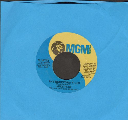 Post, Mike - The Rockford Files/Dixie Lullabye - EX8/ - 45 rpm Records