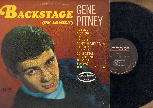 Pitney, Gene - Backstage (I'm Lonely): California, Turn Around, Dream World, Conquistador, Eyes Talk, River Street (Vinyl STEREO LP record) - EX8/VG7 - LP Records
