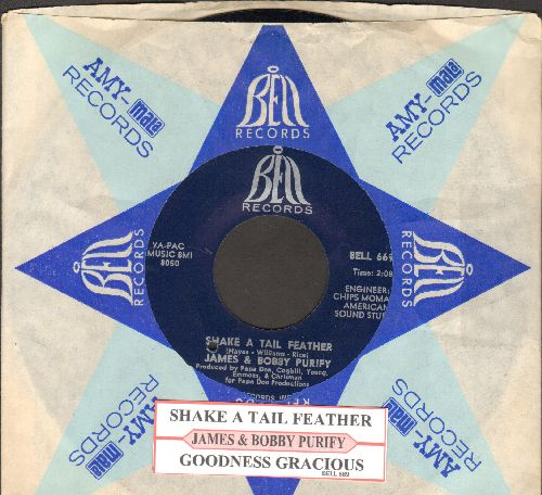 Purify, James & Bobby - Shake A Tail Feather/Goodness Gracious (with juke box label and juke box label)(bb) - NM9/ - 45 rpm Records