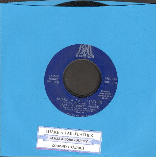 Purify, James & Bobby - Shake A Tail Feather/Goodness Gracious (with juke box label) - EX8/ - 45 rpm Records