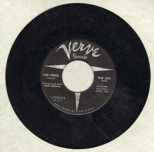 Powell, Jane - True Love/Mind If I Make Love To You (black label, silver logo) - EX8/ - 45 rpm Records