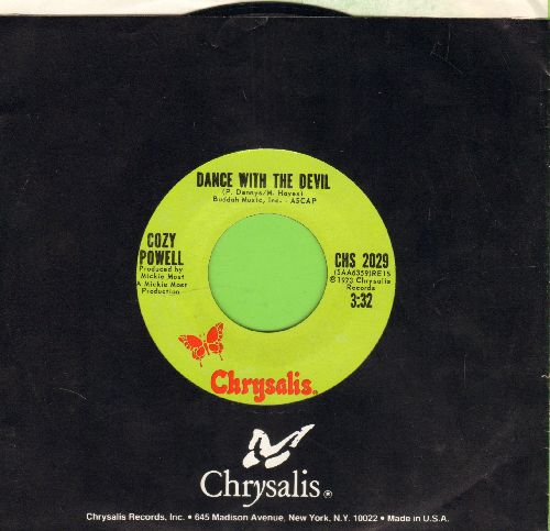 Powell, Cozy - Dance With the Devil/And Then There Was Skin (with Chrysalis company sleeve) - NM9/ - 45 rpm Records