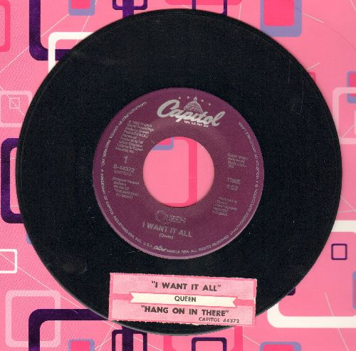 Queen - I Want It All/Hang On In There (with juke box label) - EX8/ - 45 rpm Records