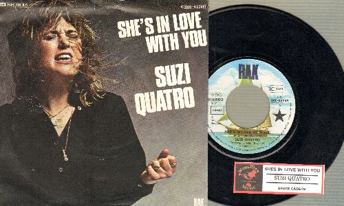 Quatro, Suzi - She's In Love With You/Space Cadets (German Pressing with juke box label and picture sleeve) - NM9/EX8 - 45 rpm Records