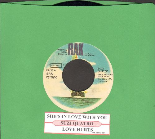 Quatro, Suzi - She's In Love With You/Space Cadets (German Pressing with juke box label) - NM9/ - 45 rpm Records
