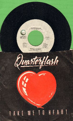 Quarterflash - Take Me To Your Heart/Nowhere Left To Hide (with picture sleeve) - EX8/VG7 - 45 rpm Records