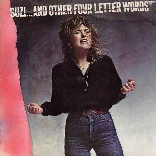 Quatro, Suzi - Suzi…And Other Four Letter Words: She's In Love With You, I've Never Been In Love, Mam's Boy, Hollywood (Vinyl LP record, Radio Station Advance Copy) - NM9/VG7 - LP Records