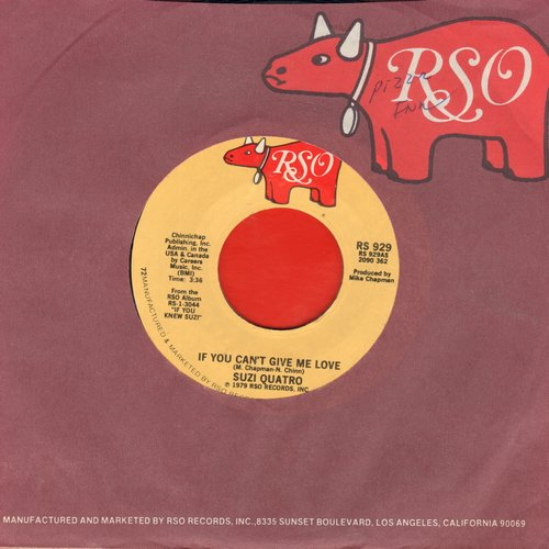 Quatro, Suzi - If You Can't Give Me Love/Non Citizen (with juke box label) - NM9/ - 45 rpm Records