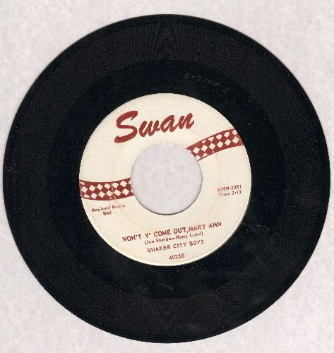 Quaker City Boys - Teasin'/Won't Y'Come Out, Mary Ann (ssol) - EX8/ - 45 rpm Records