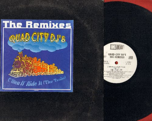 Quad City DJ's - C'Mon 'N Ride It (The Train) (PARTY FAVORITE!) - The Remixes (4 extended Dance Club Mixes) (12 inch vinyl Maxi Single with picture cover) - NM9/EX8 - LP Records