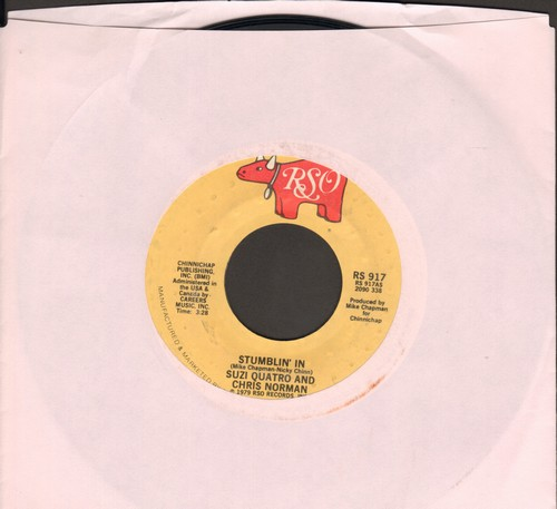 Quatro, Suzi & Chris Norman - Stumblin' In (BEAUTIFUL TOP CHARTING LOVE BALLAD!)/A Stranger In Paradise  - VG6/ - 45 rpm Records