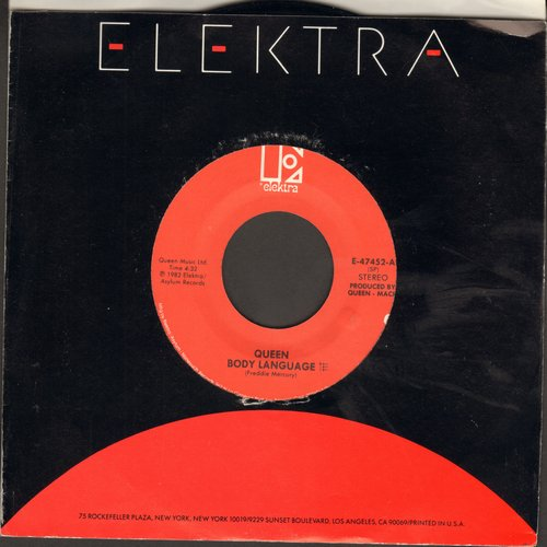 Queen - Body Language/Life Is Real (Song For Lennon) (with Elektra company sleeve) - EX8/ - 45 rpm Records