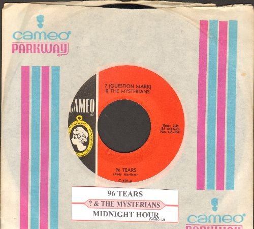 Question Mark & The Mysterians - 96 Tears/Midnight Hour (with juke box label and RARE Cameo/Parkway company sleeve) - NM9/ - 45 rpm Records