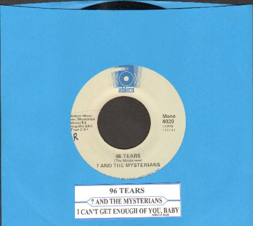Question Mark & The Mysterians - 96 Tears/I Can't Get Enough Of You, Baby (double-hit re-issue with juke box label) - EX8/ - 45 rpm Records
