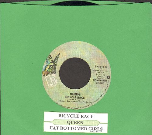 Queen - Bicicle Race/Fat Bottomed Girls (with juke box label) - EX8/ - 45 rpm Records