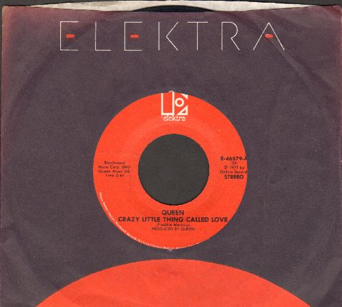 Queen - Crazy Little Thing Called Love/Spread Your Wings (with Elektra company sleeve) - EX8/ - 45 rpm Records