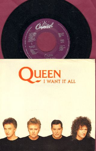 Queen - I Want It All/Hang On In There (with picture sleeve) - EX8/EX8 - 45 rpm Records