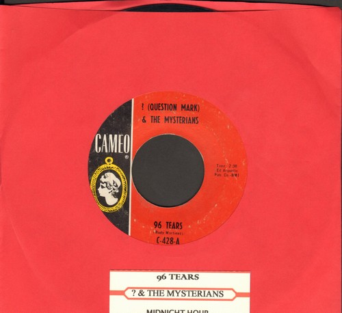 Question Mark & The Mysterians - 96 Tears/Midnight Hour (with juke box label) (wol) - EX8/ - 45 rpm Records