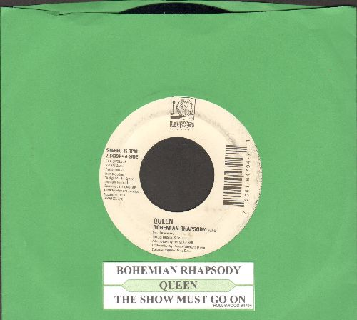 Queen - Bohemian Rhapsody/The Show Must Go On (with juke box label) - EX8/ - 45 rpm Records