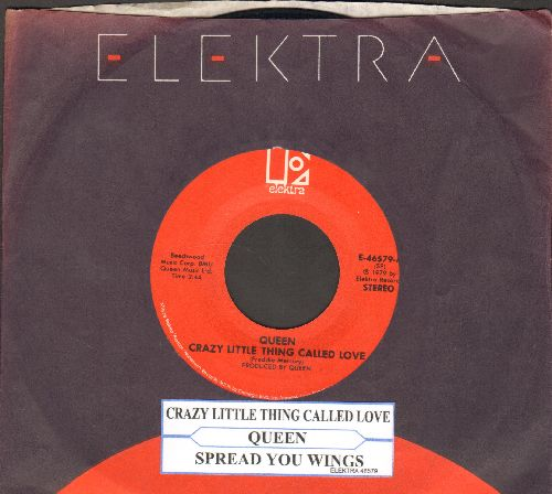Queen - Crazy Little Thing Called Love/Spread Your Wings (with Elektra company sleeve and juke box label) - EX8/ - 45 rpm Records