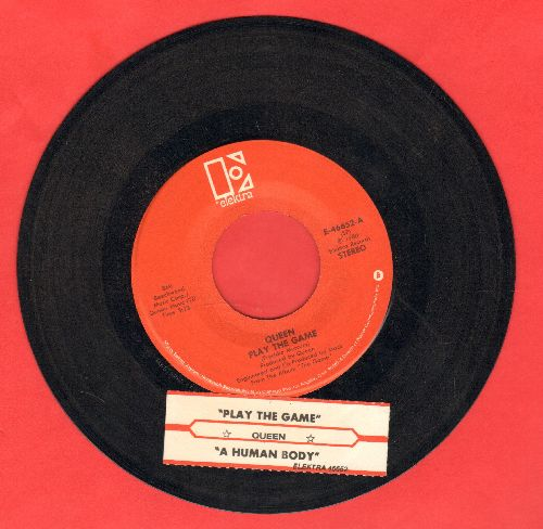 Queen - Play The Game/A Human Body (with juke box label) - VG7/ - 45 rpm Records