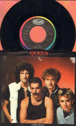 Queen - Radio Ga-Ga/I Go Crazy (with picture sleeve) - EX8/EX8 - 45 rpm Records