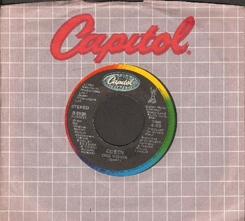 Queen - One Vision/Blurred Vision (with Capitol company sleeve) - NM9/ - 45 rpm Records