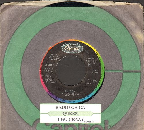 Queen - Radio Ga-Ga/I Go Crazy (with companysleeve and juke box label) - NM9/ - 45 rpm Records