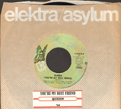 Queen - You're My Best Friend/'39 (with Elektra company sleeve and juke box label) - EX8/ - 45 rpm Records