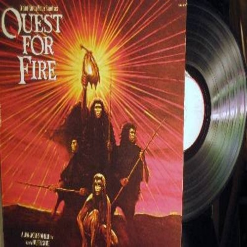 Quest For Fire - Quest For Fire - Original Motion Picture Soundtrack, Music by Philippe Sarde (Vinyl STEREO LP record, gate-fold cover) - NM9/EX8 - LP Records