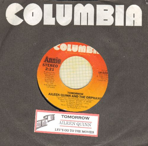 Quinn, Aileen & The Orphans - Tomorrow (sung by Aileen Quinn, Ann Reinking, Albert Finney & Chorus)/Let's Go To The Movies (with Columbia company sleeve and juke box label) - VG7/ - 45 rpm Records