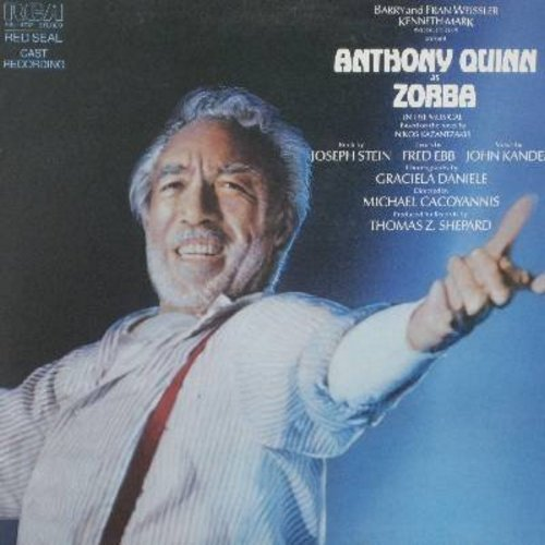 Quinn, Anthony, Lila Kedrova - Zorba - Original Cast Recording (Vinyl STEREO LP record, gate-fold cover RED SEAL label) - NM9/NM9 - LP Records