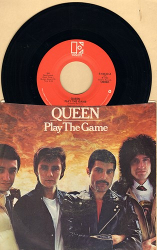 Queen - Play The Game/A Human Body (with picture sleeve) - EX8/VG7 - 45 rpm Records
