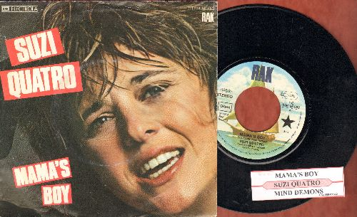 Quatro, Suzi - Mama's Boy/Mind Demons (GERMAN Pressing with juke box label and picture sleeve) - NM9/EX8 - 45 rpm Records